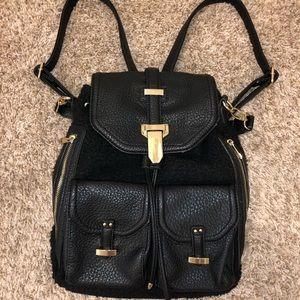 Women's black Aldo backpack purse large